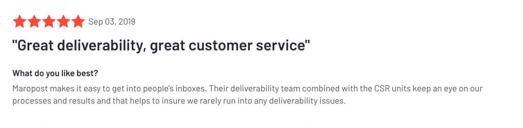 G2 Deliverability Service