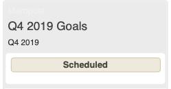 Q4 goals