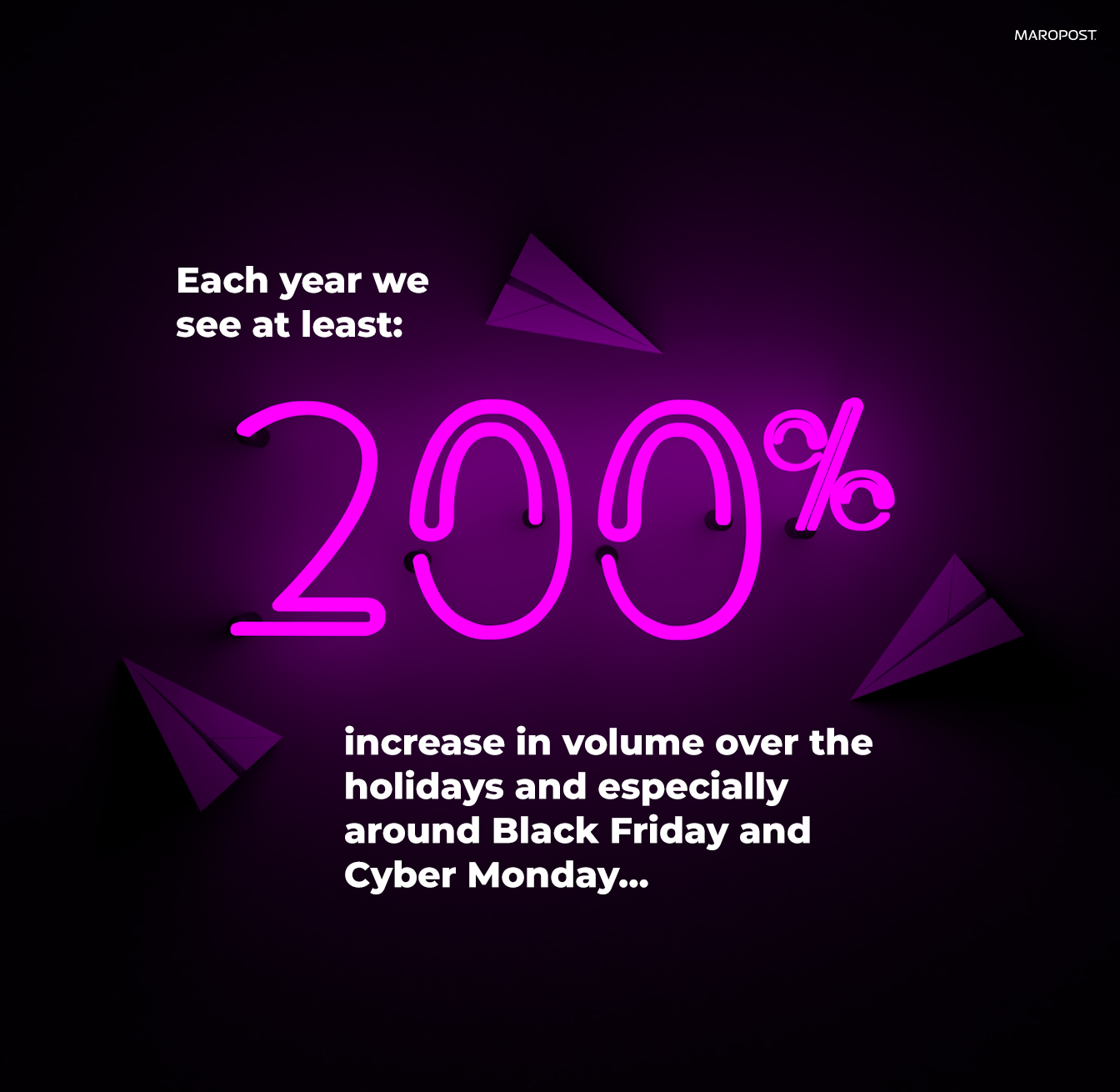 black friday & cyber monday email marketing stats